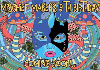 Create a bizarre illustrated design artwork poster