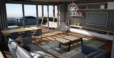 Design your 3D model of interior and exterior places.