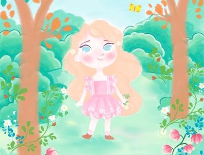 Do one illustration for your children's book, digital art