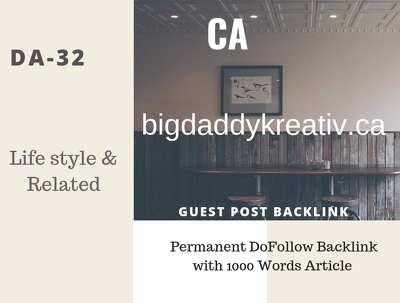 CA Lifestyle Related 32 DA Guest post link