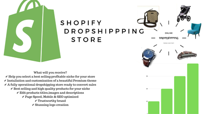 Create and design drop-shipping Shopify store