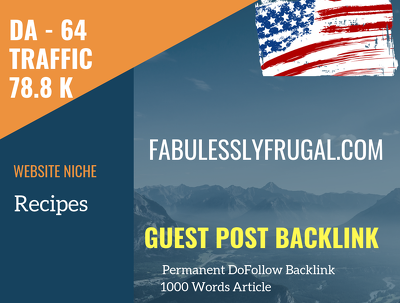 USA Lifestyle Related 78800 Traffic 64 DA Guest post link