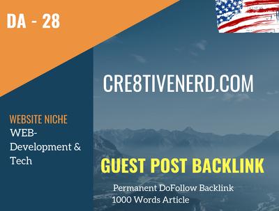 USA WEB-Development & Tech Related 25 DA Guest post