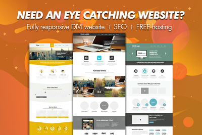 Eye catching website designs to get you more sales leads!