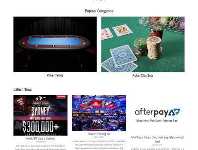 Build an eCommerce website ( Poker shop)