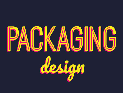 create a beautiful packaging design for your product