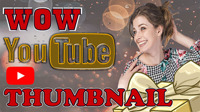 Design WOW Youtube Video Thumbnail with Banner