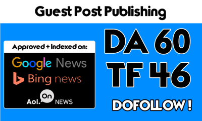 Publish Guest Post On My DA 60 Tech News Blog With Dofollow Link