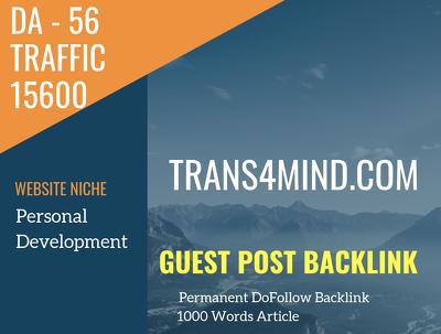 USA Personal Development Related 15600 Traffic 56 DA Guest post