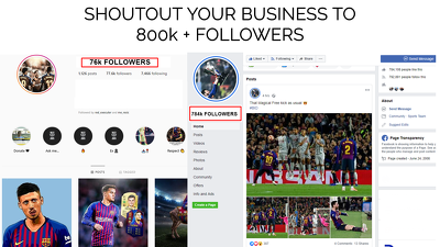 Give you a shoutout on my 800k two pages on instagram & facebook