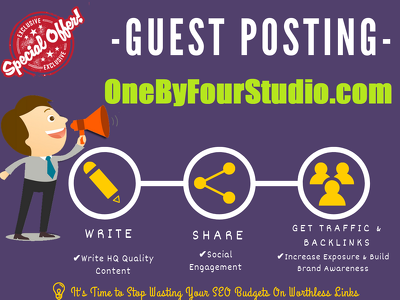 Publish a Guest Post on Onebyfourstudio.com - DA 58