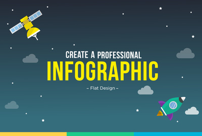 Design a professional flat infographic