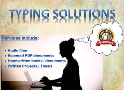Typing from PDF, scanned, handwritten or audio files