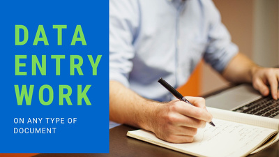 Do 10 page or 3 hours of data entry on any document sheet