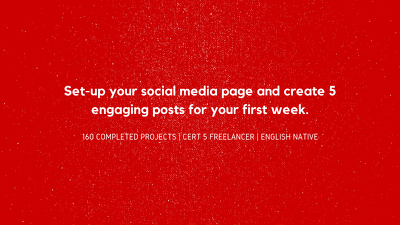 Create Your Social Media Page & 5 Posts.