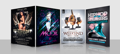 Design party music flyers or posters