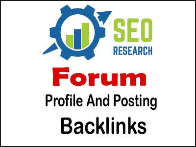 Provide 4000 Forum Backlinks Postings And Profiles