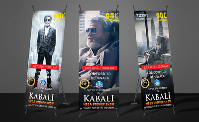 Design professional banner, x stands banner in 24 hours