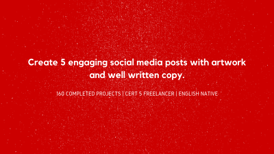 Create 5 engaging social media posts with imagery and copy.