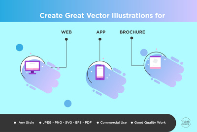 Create great vector illustration for web, app and brochure