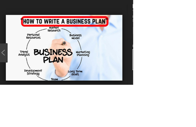 Write a business plan and financial plan
