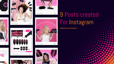 Create 9 posts for your instagram feed