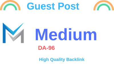 Guest post on medium.com, write and publish an article DA-96
