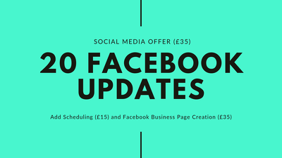 create 20 social media updates for your Facebook Page
