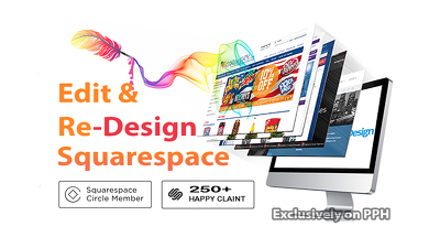 Edit and redesign your squarespace website