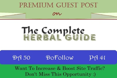 Write & Publish A Guest Post on TheCompleteHerbalGuide.com