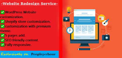 Redesign your existing Website/Store with premium service