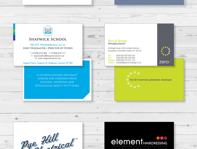 Design your business card using your existing logo