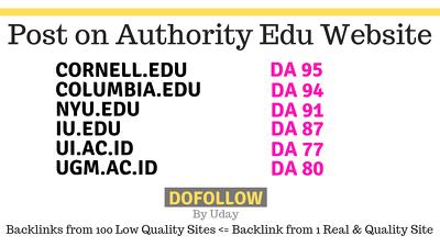 Post on 6 Top Quality Edu websites, Cornell,Nyu,Columbia, sites