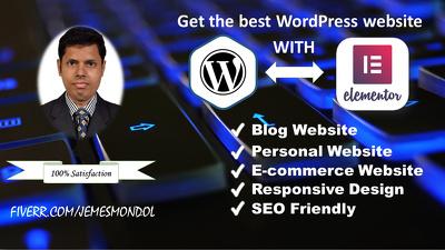 Design Your Website Using Elementor Or Elementor Pro