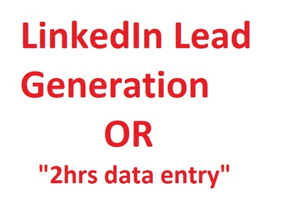 Provide 100 genuine targeted LinkedIn leads or 2 hrs Data entry