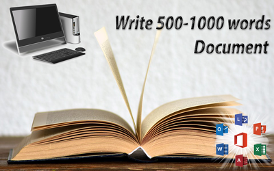 Write 500-1000 Words Document or Article