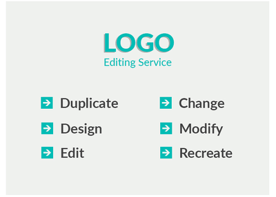 I Will Duplicate, Design, Edit, Modify, Change Logo Perfectly