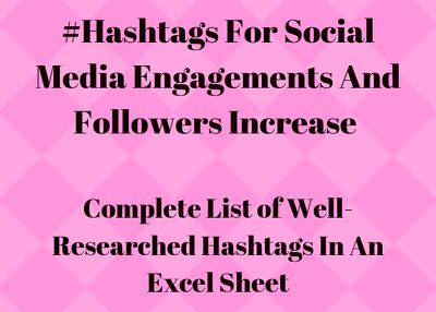 Provide you 200 hashtags to grow your followers and engagements