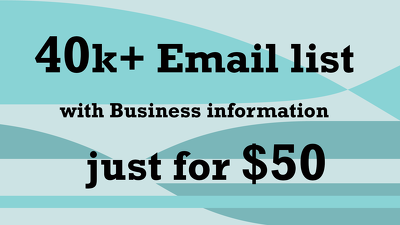 Provide 40k Email List For Your Business