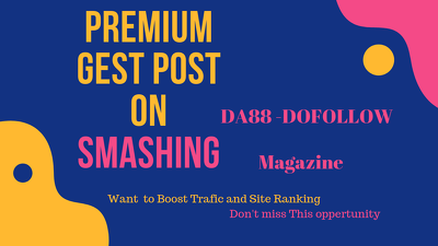 Publish a guest post on Smashingmagazine.com – DA88