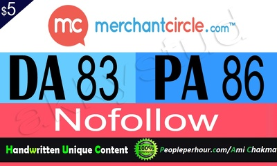 Write a blog on merchantcircle.com (DA 85, PA 88 PR 8)