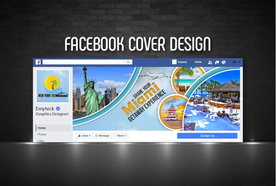 Design A Facebook 5 Cover Photo Banners or Social Media design