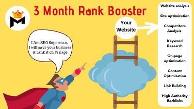 Provide 3 Months SEO White Hat SEO to Rank #1 on Google
