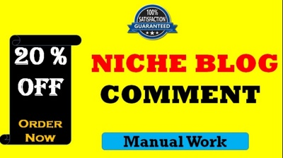 Write  1000 Niche Relevant Blog Comments Backlinks