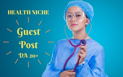 Write and publish a guest post on top 5 health and fitness site