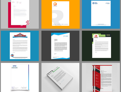 Create a professional letterhead + Free Ms word and Source file