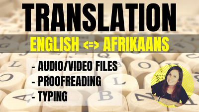 I will Translate 1000 words from Afrikaans to English