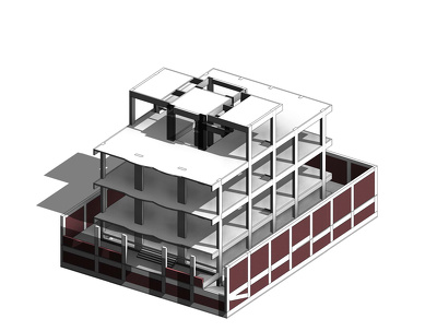 Make a 3D model For any Building by Revit and Cad