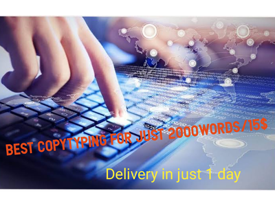 Do best copytyping of 2000words