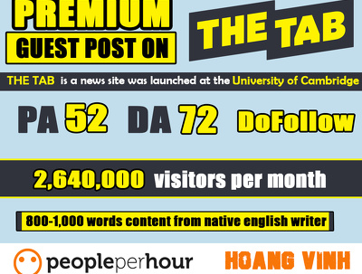 Write And Publish Guest Post On Thetab.com - DA 72 PA 52